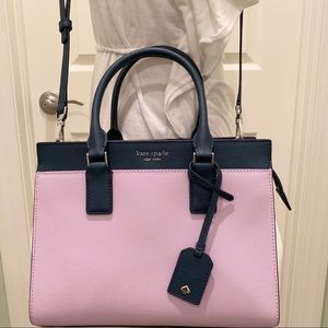 Kate spade Cameron medium satchel lavender navy